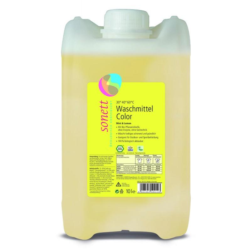 Tekoče pralno sredstvo color z vonjem mete in limone za vse vrste pisanega perila